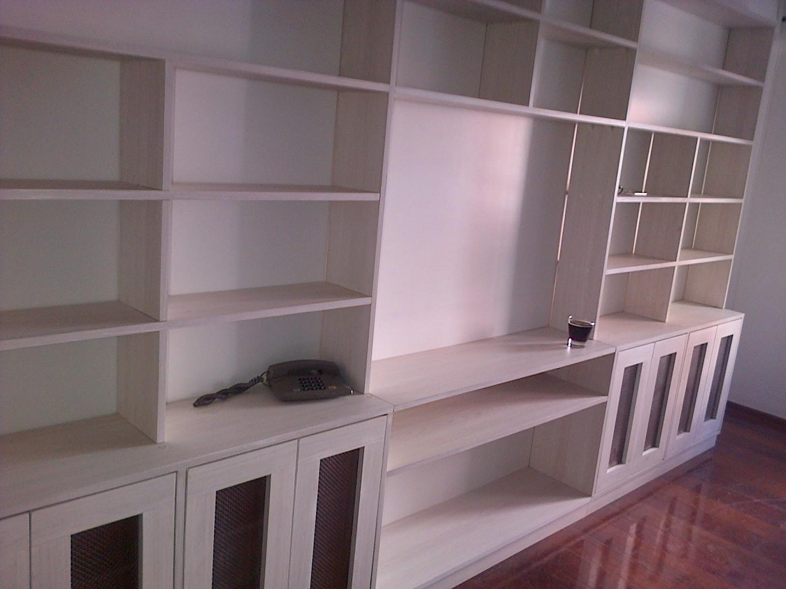 Bibliotecas de madera biblioteca mts ancho biblioteca - Biblioteca madera blanca ...