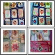 Jabones decorados con servilletas para cualquier ocasion, en venta por docenas