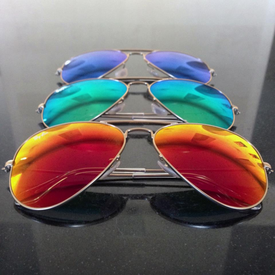 gafas aviador cristales espejo