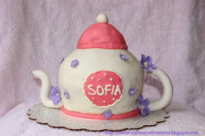 Teapot Cake using Wilton Sports Ball Pan