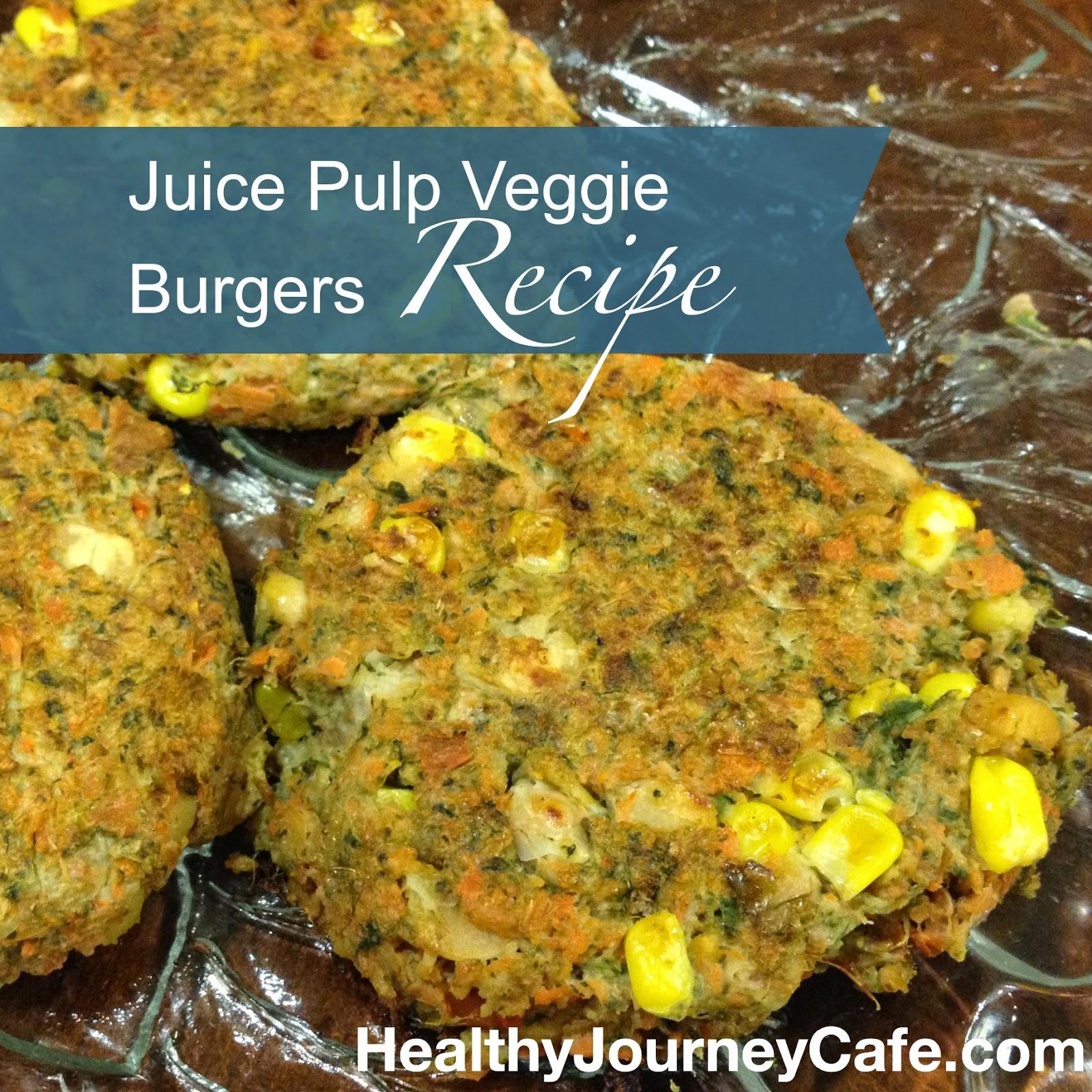 Juice Pulp Veggie Burgers Recipe