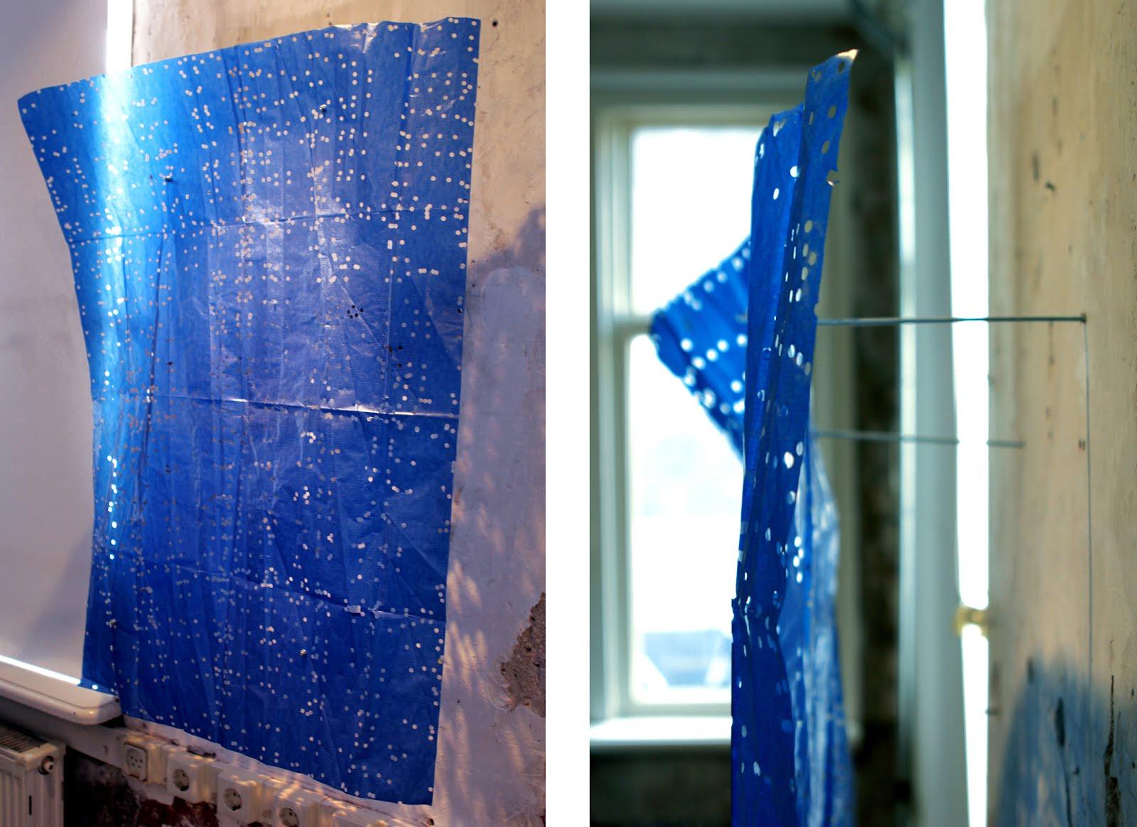A Piece of Blue Velvet Hanging