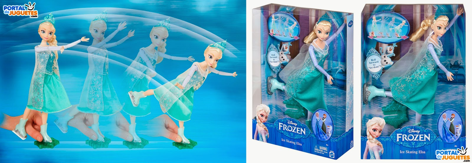 muñeca elsa patinadora frozen mattel