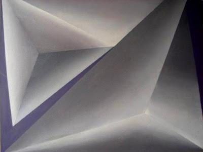 Óleo s/tela dando volume e profundidade - artista Elma Carneiro