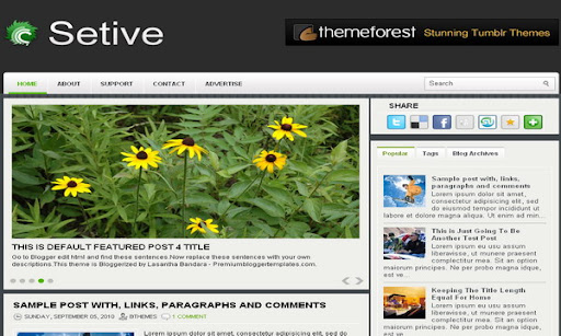 Setive Blogger Template