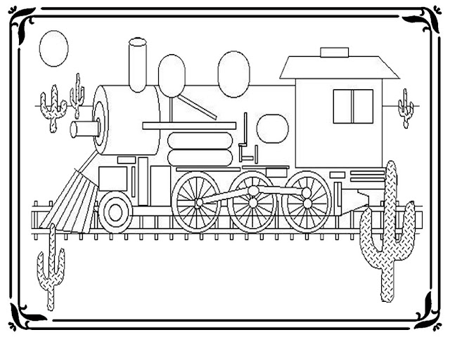 Train Coloring Pages To Print