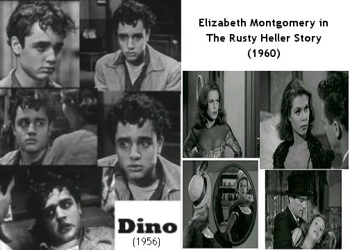 Sal Mineo is Dino (1956) & Elizabeth Montgomery in The Rusty Heller Story (1960)