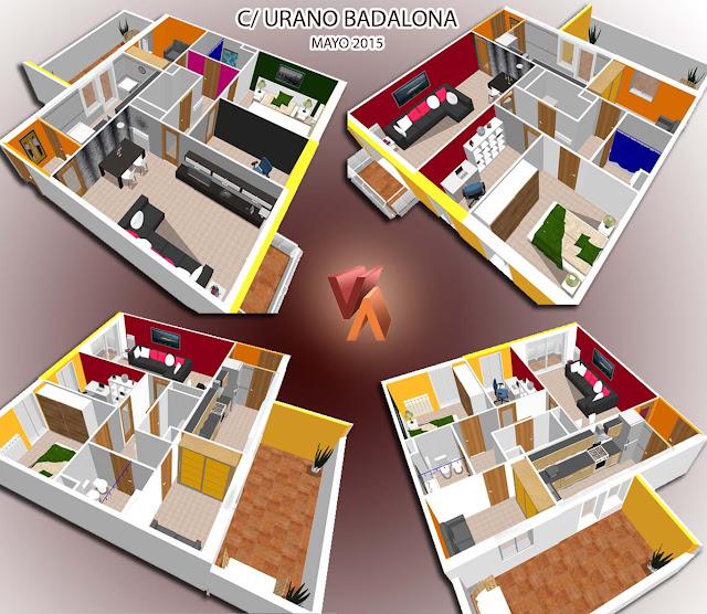 maqueta 3d viviencad