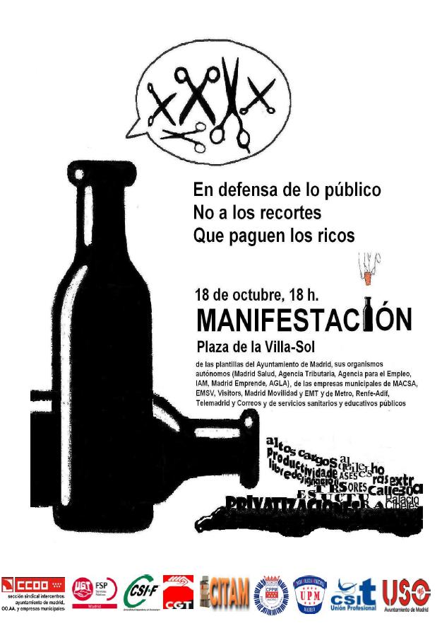 Cgt agencia para el empleo manifestaci n 18 de octubre de for Agencia de empleo madrid
