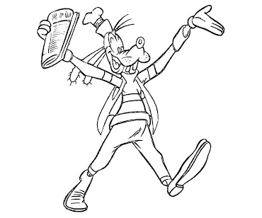 #4 Goofy Coloring Page
