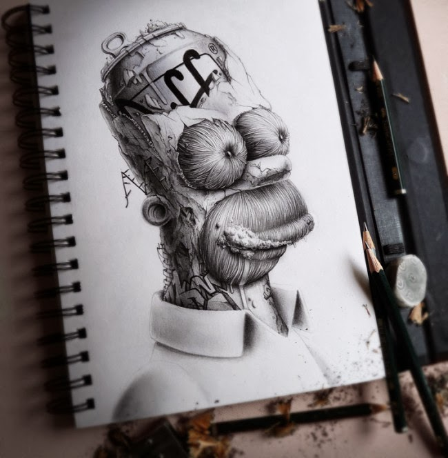 Extreme Surreal Cartoon Art By Pez