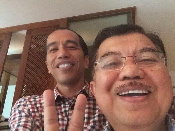 foto selfie jokowi jk
