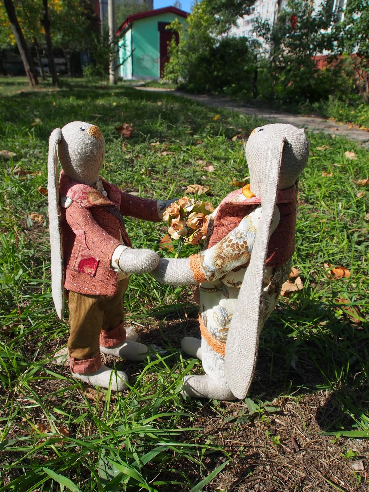 заяц ручная работа игрушка