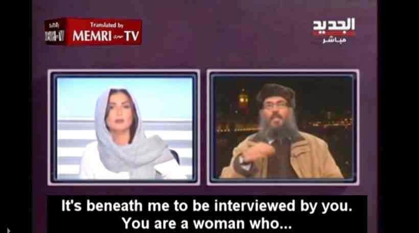 """Ιδού ποιους υπερασπίζεται η Χριστοδουλοπούλου! """"Σκάσε να μιλήσω! Είσαι γυναίκα που..."""" είπε στον αέρα ο Ισλαμιστής στην παραουσιάστρια"""