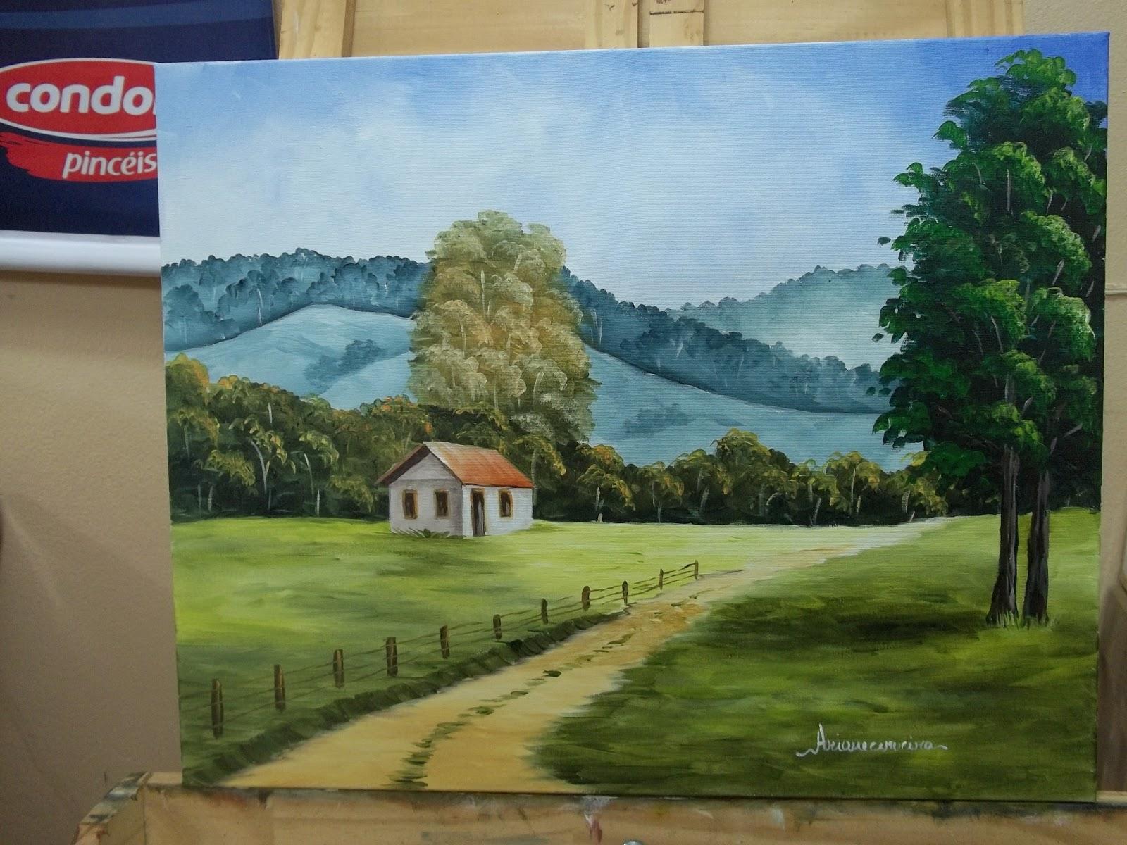 Pintura em tela   Esta tela foi pintada em acrílico para um vídeo  #3C6B8F 1600x1200
