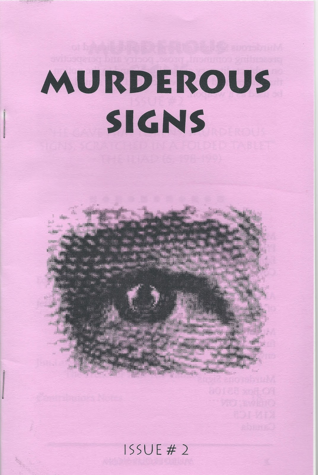 Rob Mclennans Blog Murderous Signs 2000 2007 Bibliography And