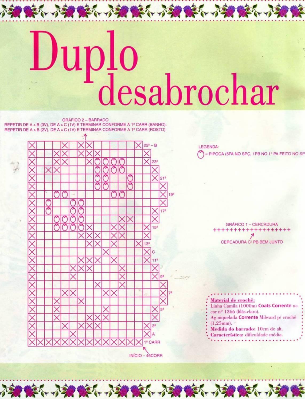 Barrado De Croche Com Grafico Para Toalha De Banho | Tattoo Design