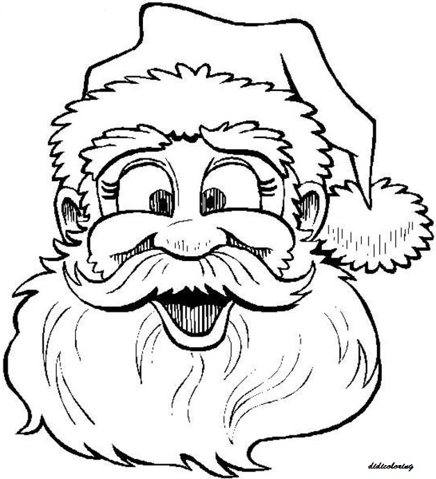 printable beautiful happy santa christmas dania rehman kids coloring pages