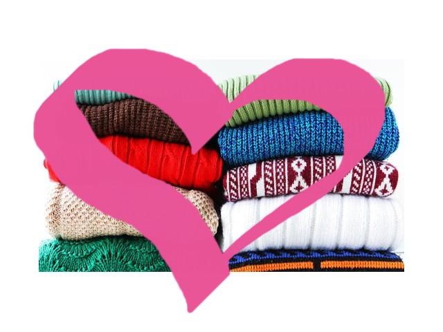 Agasalhos e roupas para campanhas de doação
