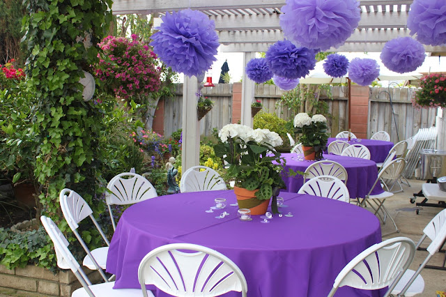 my little cottage in the making purple bling 1st communion party