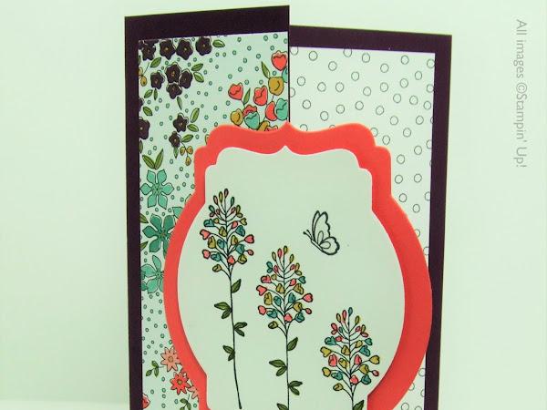 Wildflower Fields Fancy Fold Card Sale-A-Bration 2016 Stampin' Up! UK