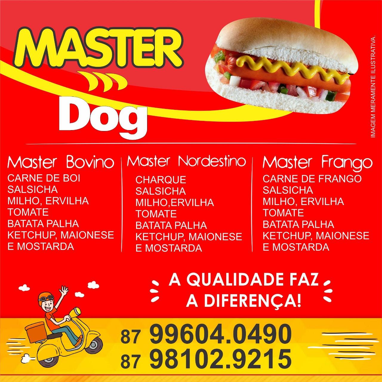 Master dog Delivery o melhor da cidade!