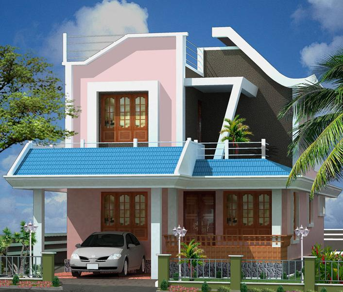Ground Floor Elevation With Staircase : Ente veedu new elevation