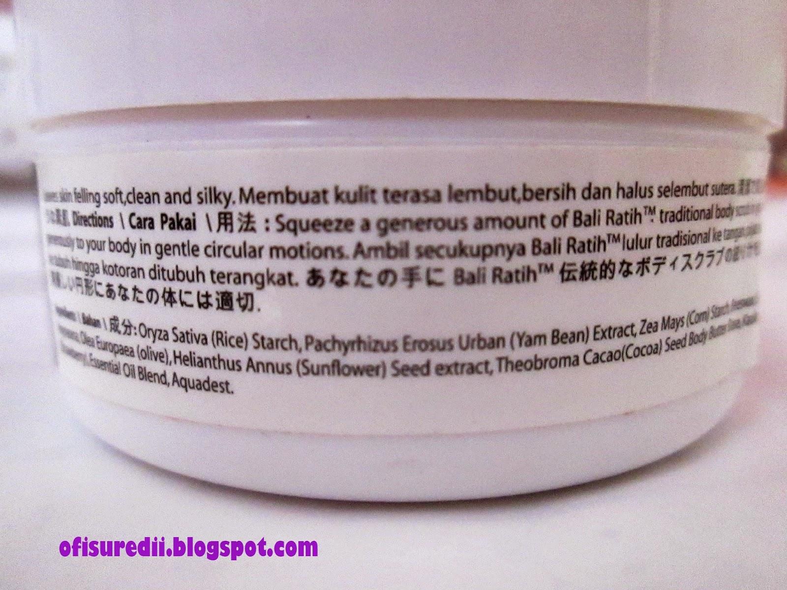 Review Body Scrub Butter Mist Dan Hand Lotion Bali Ratih Bagi Aku Yang Males Dua Minggu Itu Sebentar Banget Lo Karena Belum Tentu Seminggu Sekali Pakai
