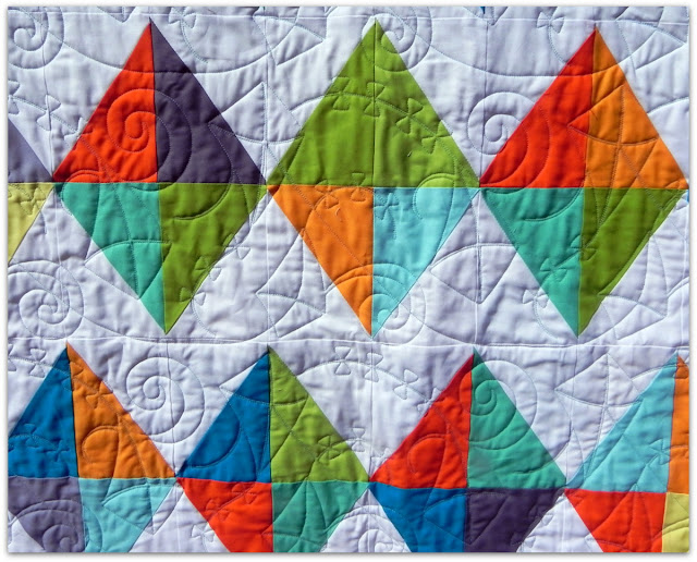 Janice Elaine Sews Kites Patchwork quilt.
