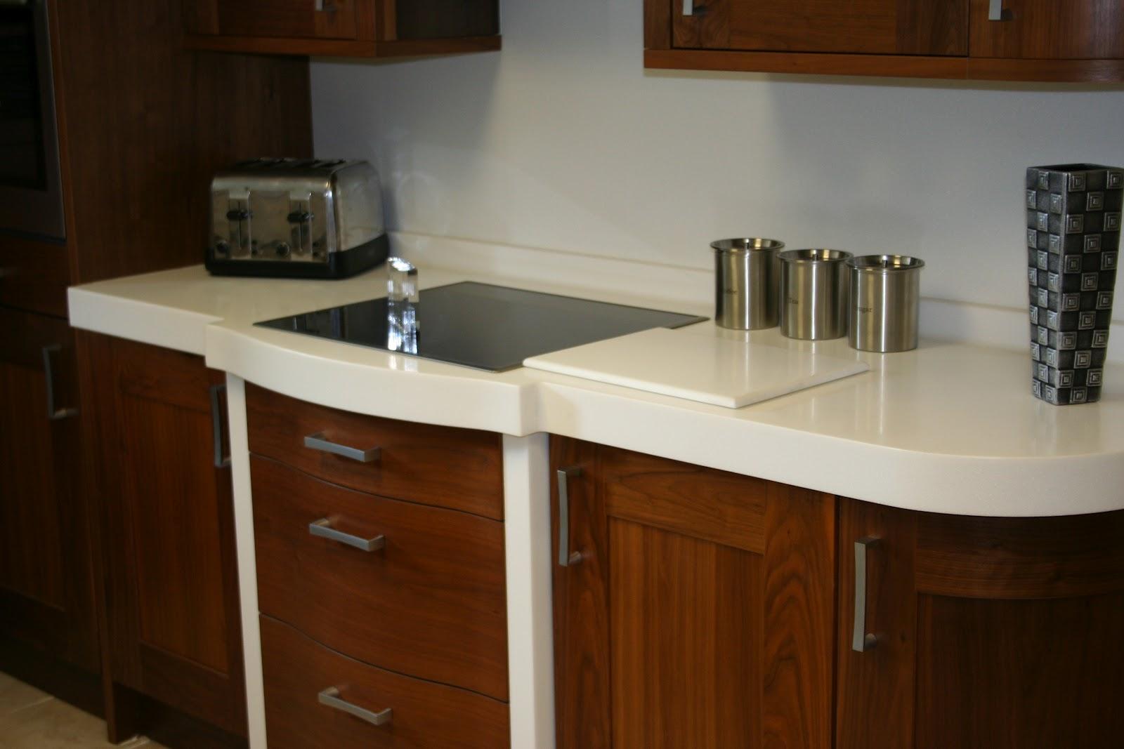 corian cameo white curved display corian corian worktops corian prices. Black Bedroom Furniture Sets. Home Design Ideas