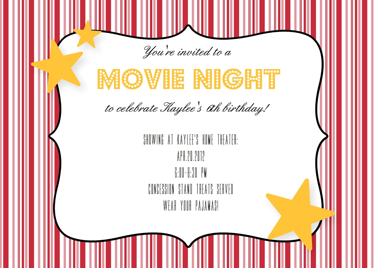 Random Craft: Movie Night Birthday Party