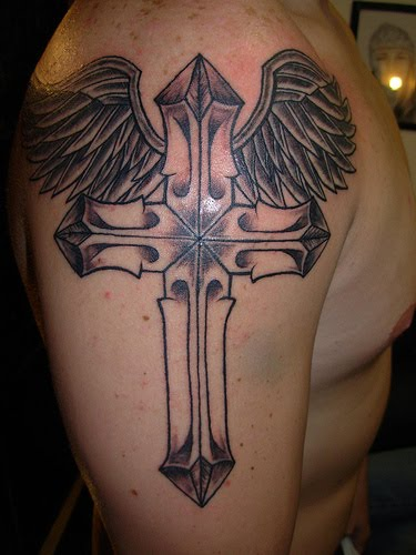 cross tattoos for men on arm