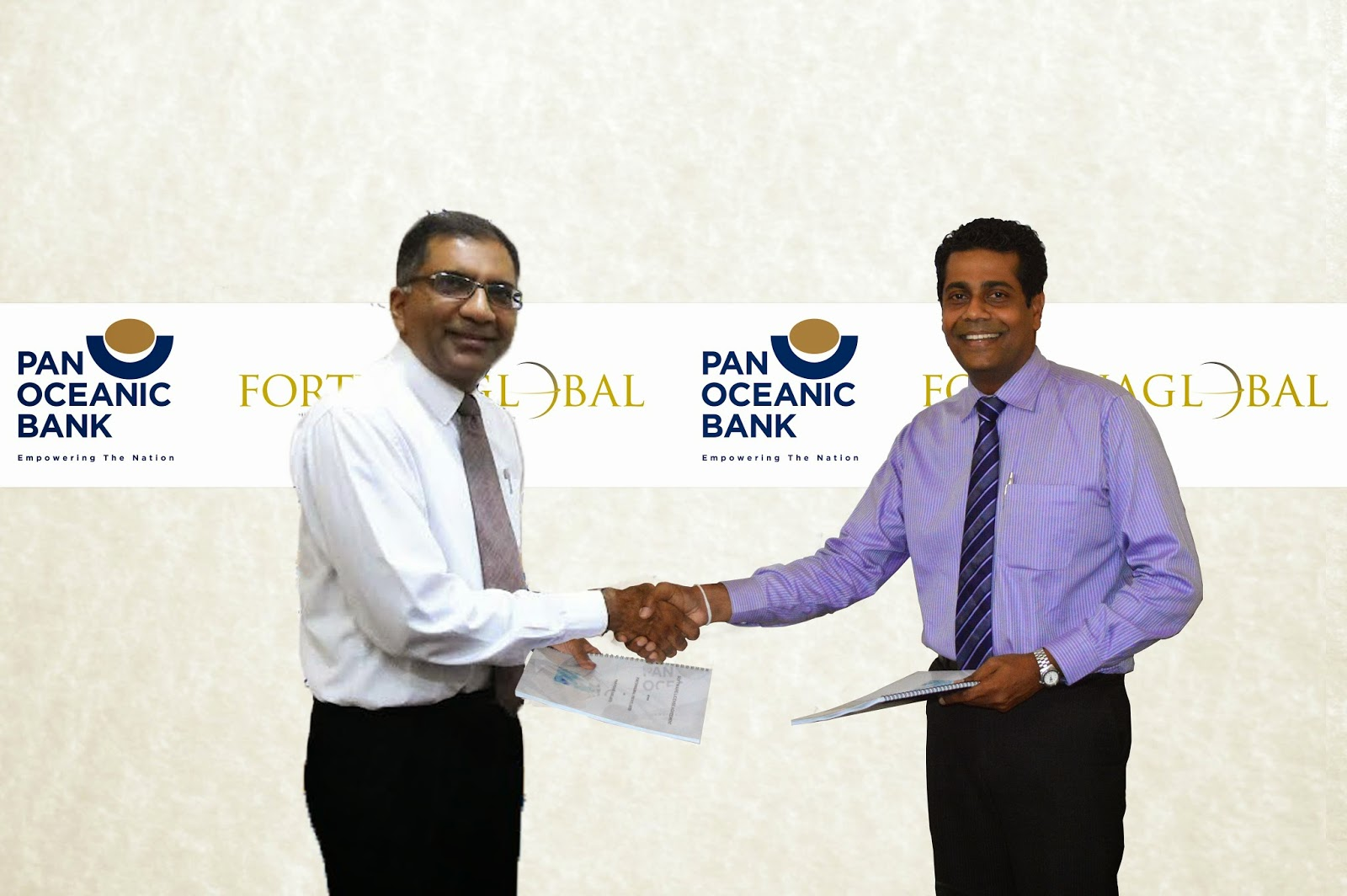 Nihal Kekulawala (CEO of Pan Oceanic Bank) and Suren Kohombange (CEO, Fortunaglobal)
