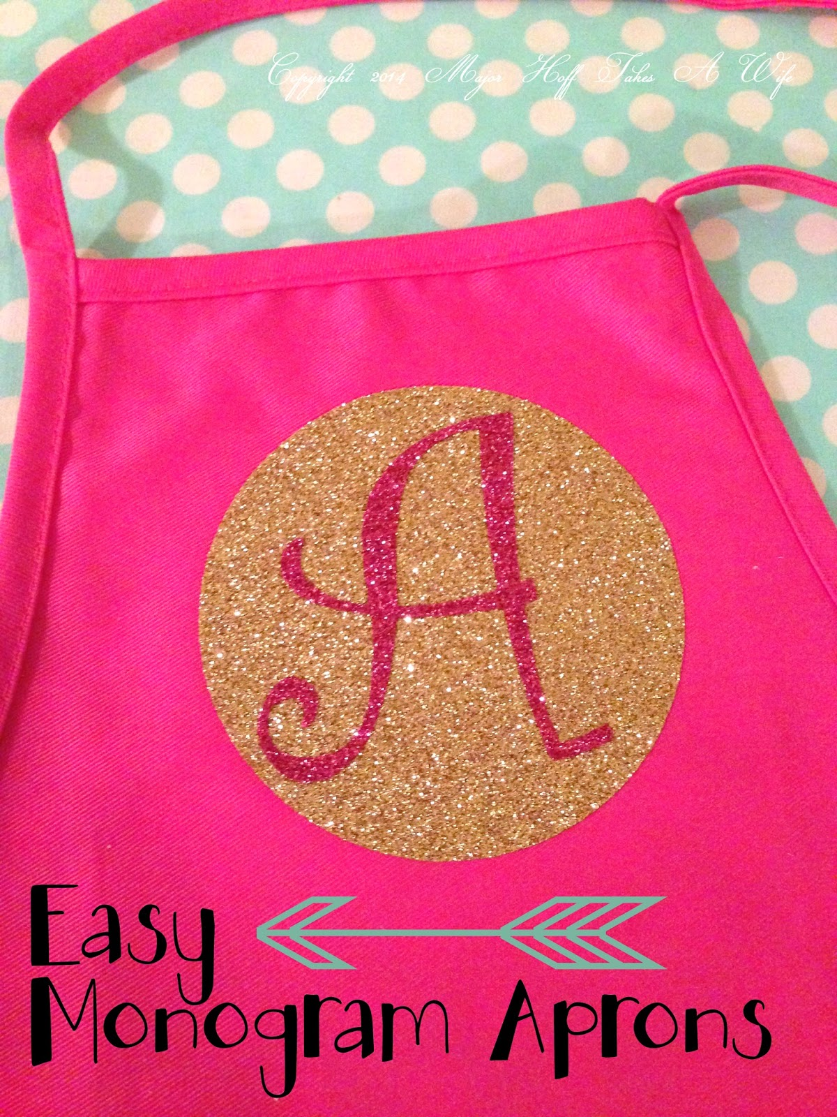 White apron hobby lobby - How To Make Custom Boutique Style Aprons With Iron On Glitter Vinyl