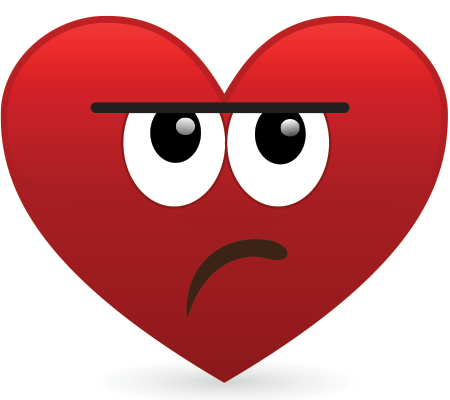 Unimpressed Heart Icon