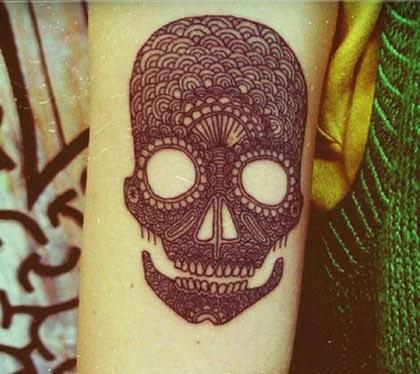 Fotos de tatuagens de caveira mexicana originais
