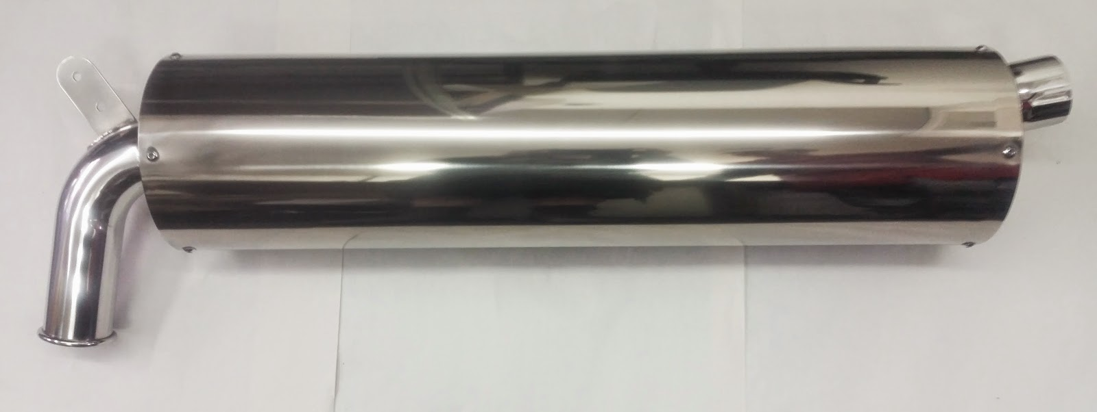 Freshly Polished Titanium Raceco Silencer and looking awesome!