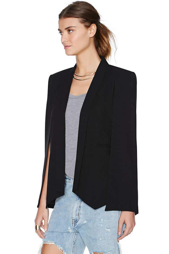 nasty gal black cape