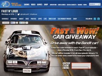 Fast N' Wow Car Giveaway1/6/14