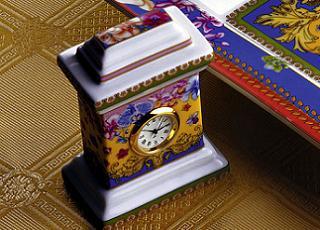 Konkurs porcelanowy zegar Versace