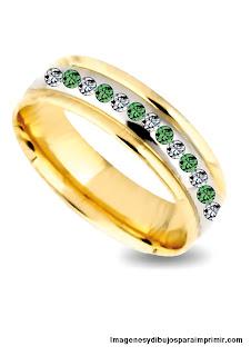 alianza con piedras preciosas