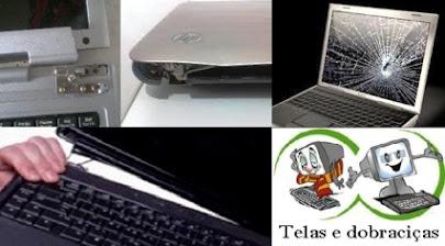Conserto seu notebook: dobradiças, teclados e telas.