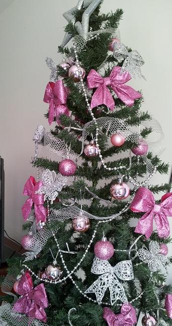 decoracao de arvore de natal azul e prata:Lilicutes by Kakuseisha: Minha Árvore de Natal também é Rosa!