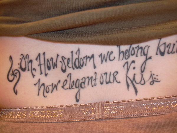 Lettering Tattoo Leona Lewis