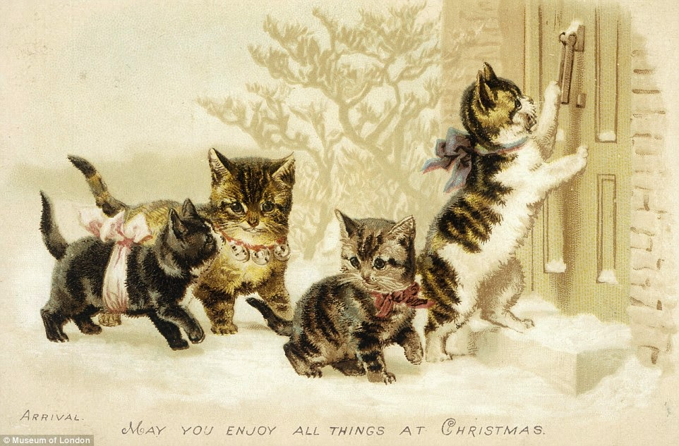 art wonder every day: Victorian and Edwardian Christmas cards