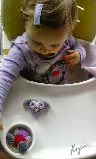 sowy szydełkowe amigurumi owl