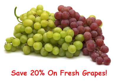 New SavingStar Coupon: Save 20% on Fresh Grapes!