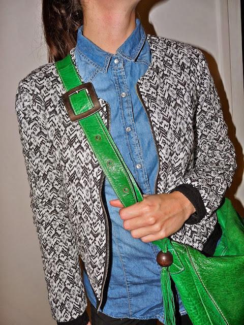 Blog Mode Fashion BlogMode FashionBlog Blouson Pimkie Chemise jean Stradivarius Pantalon Comptoir des Cotonniers  Baskets New Balance 574  Sac Catherine Parra