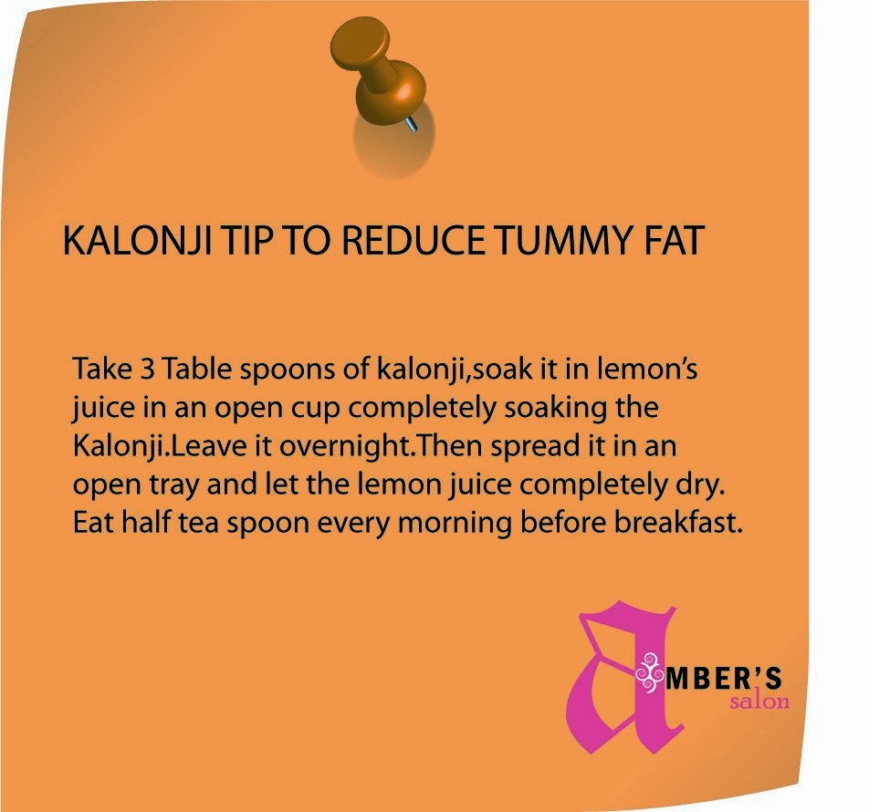 Tatheer world kalonji tip to reduce tummy fat kalonji tip to reduce tummy fat ccuart Image collections