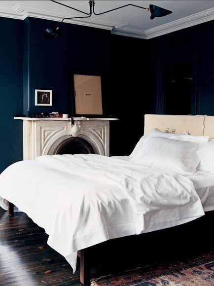 Navy Blue Bedroom Interesting Of Dark Blue Bedroom Walls Picture